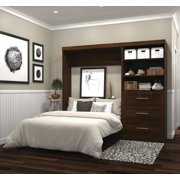 """Pur by Bestar 95"""" Full Wall bed kit in Chocolate"""