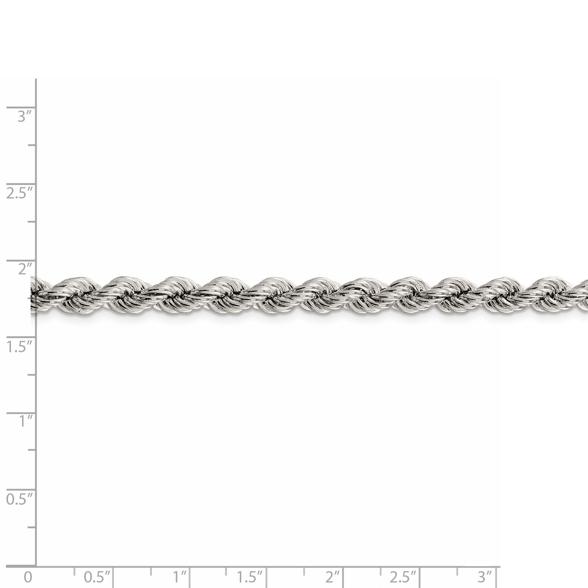 925 Sterling Silver 6.4mm Link Rope Chain Necklace 18 Inch Pendant Charm Fine Jewelry Gifts For Women For Her - image 1 de 5
