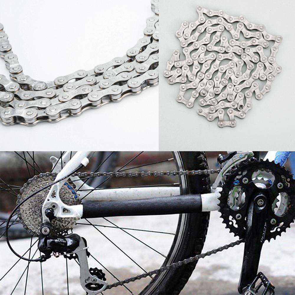 Wangcai Bicycle Chains Bike Chains 116 Links 6//7//8 9 10 11 Speed Bike Chains Stainless Steel Anti-Rust Chains for Road Bike Mountain Bike