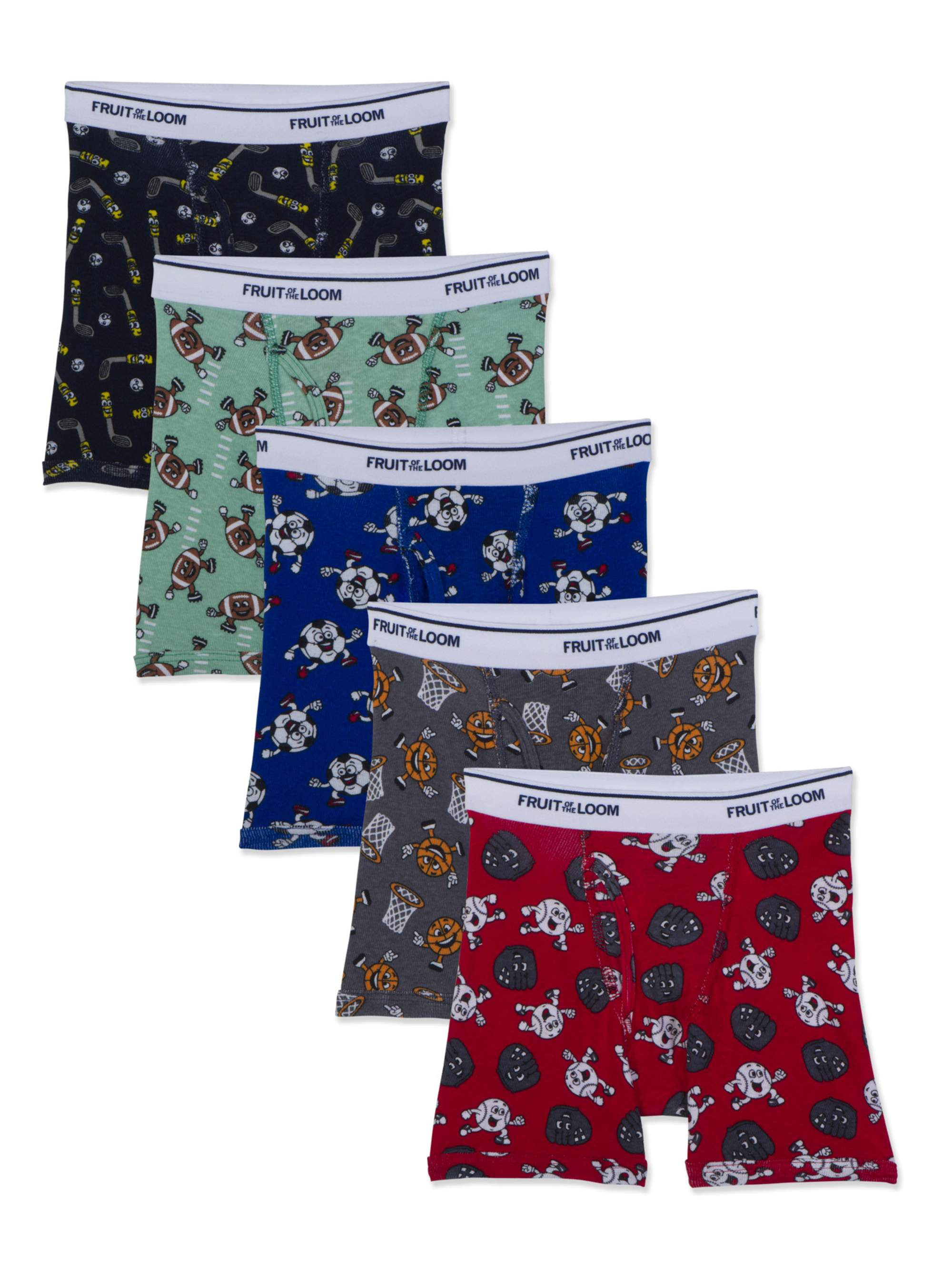 Assorted Print Boxer Briefs, 5 Pack (Toddler Boy)
