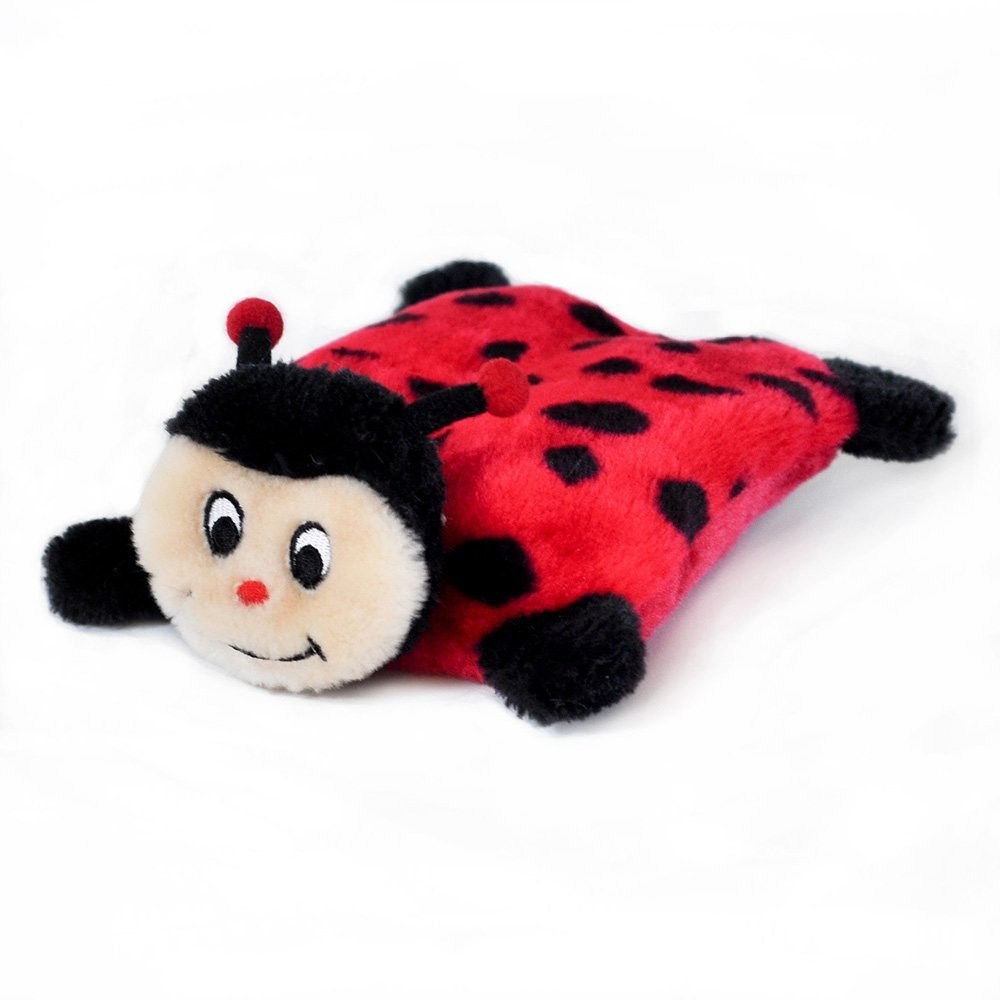 Puppy Dog Toys, Squeakie No Stuffing Ladybug Tough Cute Plush Fluffy Dog Chew Toy