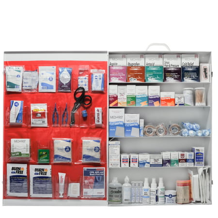 Deluxe Extra Large OSHA Approved First Aid Kit Complete 5 Shelf Cabinet by
