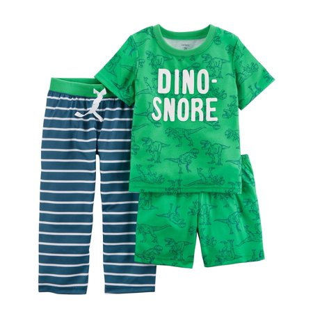 Carter's Baby Boys' 3-Piece Poly PJs, Dino Snore, 12 Months for $<!---->