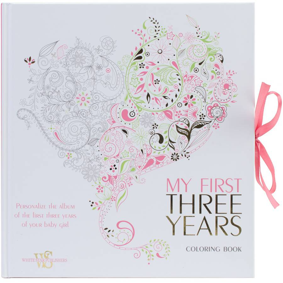 White Star Publishing Books My First Three Years Coloring Book, Girl