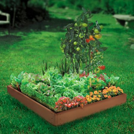Suncast 4 Panel Raised Garden Bed Kit