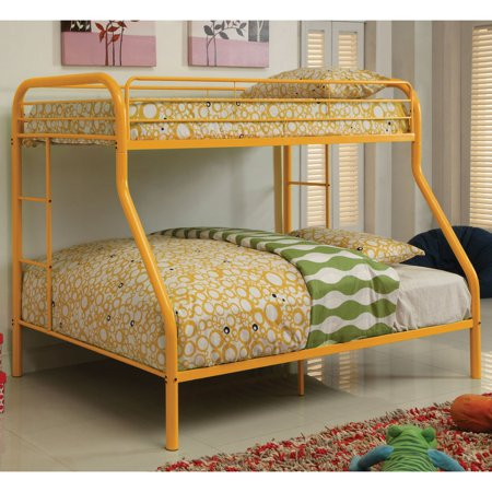 Carleen Modern Twin Over Full Bunk Bed With Dual Sided Ladder