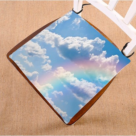 Image of ZKGK Blue Sky White Clouds Seat Pad Seat Cushion Chair Cushion Floor Cushion Two Sides 16x16 Inches
