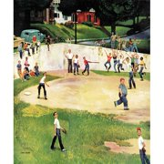 Marmont Hill Sandlot Homerun by John Falter Painting Print on Canvas
