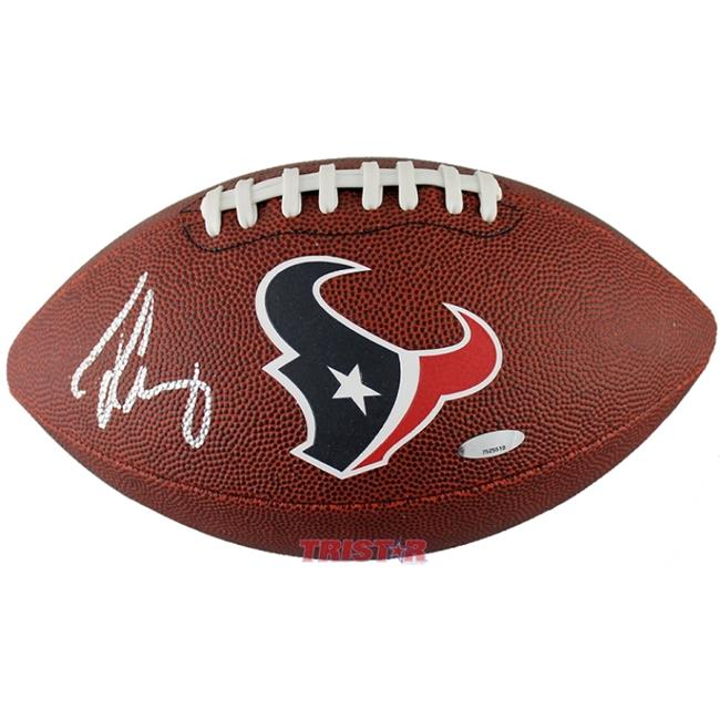 TriStarProductions I0028937 Jadeveon Clowney Houston Texans Autographed Game Time Logo Football