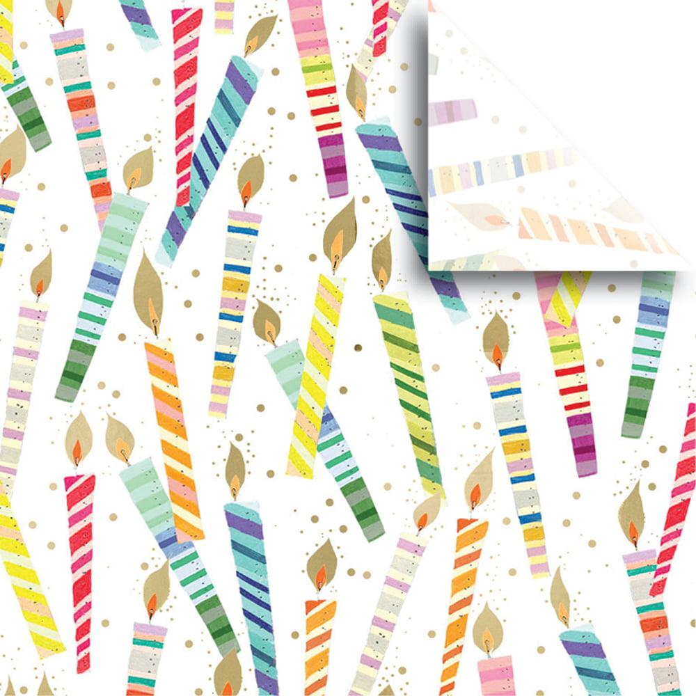 """Jillson & Roberts Printed Gift Tissue 20"""" x 30"""", Candles (240 Sheets)"""