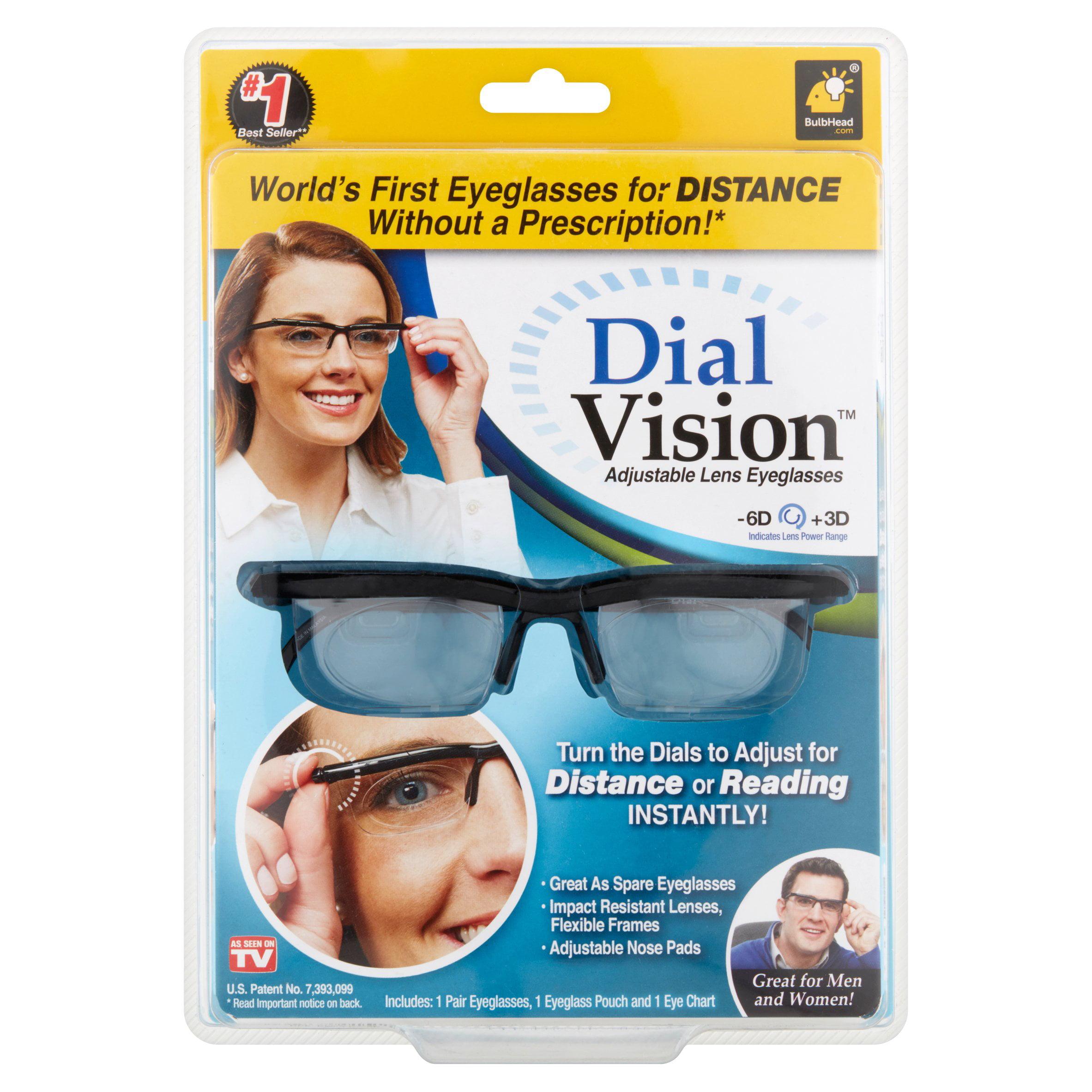 As Seen On Tv Dial Vision Adjustable Vision Eyeglasses Walmart