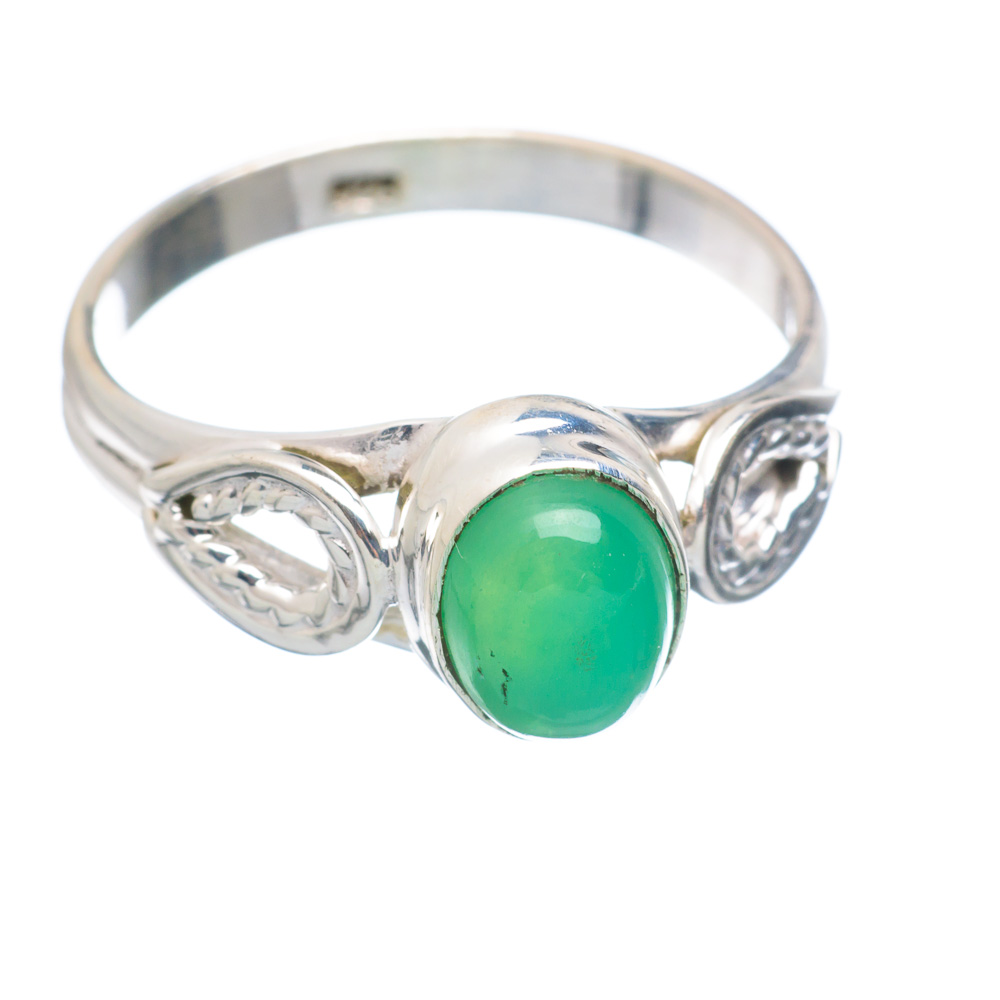 Ana Silver Co Chrysoprase Ring Size 8 (925 Sterling Silver) Handmade Jewelry RING854888 by Ana Silver Co.