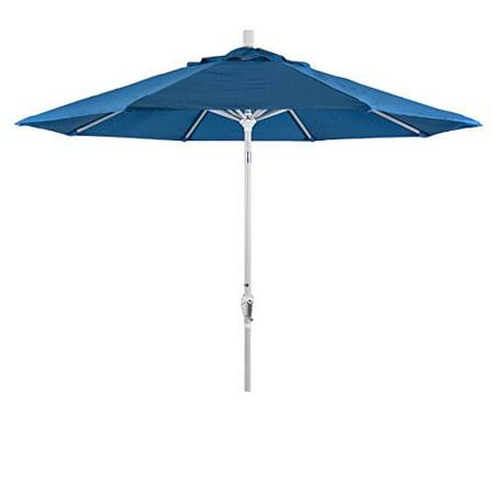 - Eclipse Collection 9 Aluminum Market Umbrella Push Tilt - M White/Sunbrella/Pacific Blue