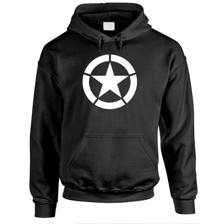 Jeep Wrangler Sweatshirts (BROKEN STAR - jeep army fighting america - Fleece PULLOVER Hoodie )