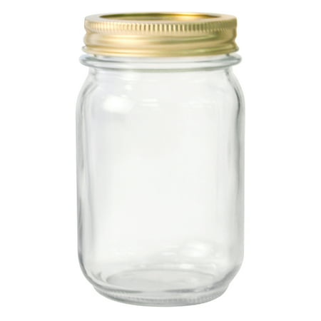 Anchor Hocking Pint Glass Canning Jar Set, 12pk regular mouth (Mini Glass Jars With Lids)
