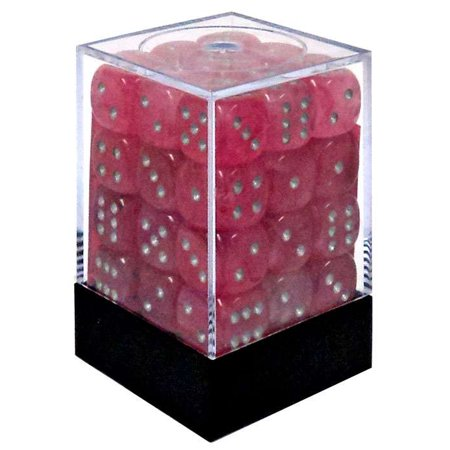 Chessex 6-Sided d6 Ghostly Glow Dice Pack [Pink & Silver]
