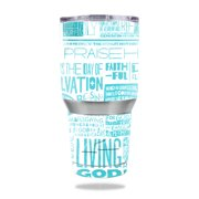 MightySkins Protective Vinyl Skin Decal for  30 oz Tumbler wrap cover sticker skins Faith