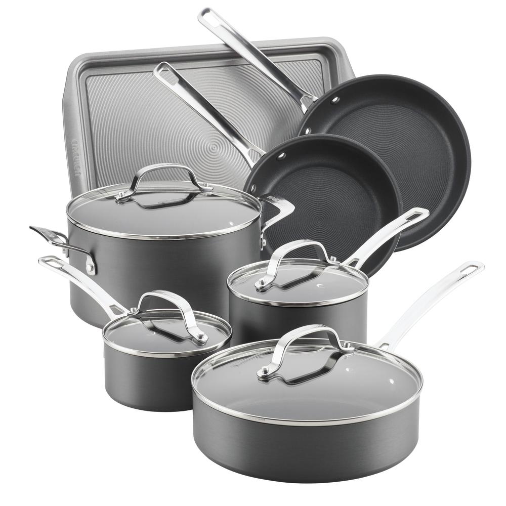 Circulon Genesis Hard-Anodized Nonstick 11-Piece Cookware Set, Gray by Meyer Corporation