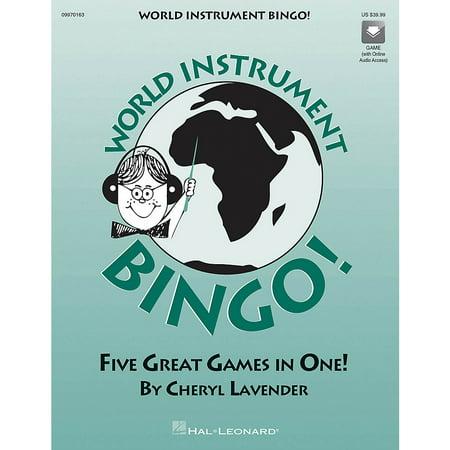 Hal Leonard World Instrument Bingo (Game) (Replacement CD) CD Composed by Cheryl (Hal Leonard Composer Bingo Game)