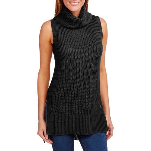 Faded Glory Women's Sleeveless Cowl Neck Sweater