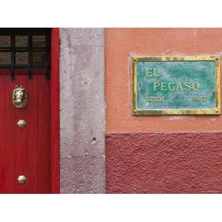 Mexico, Guanajuato State, San Miguel de Allende, El Pegaso Cafe Sign Print Wall Art By Walter