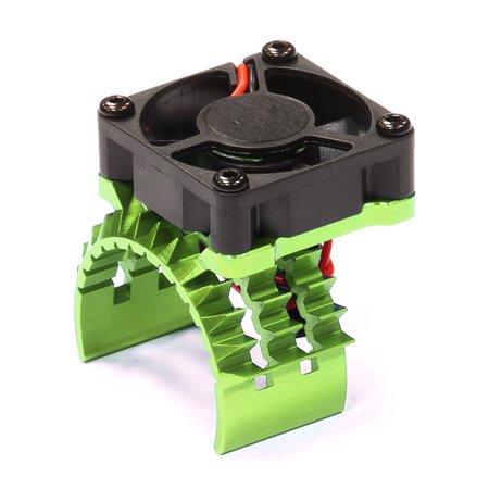 Integy RC Toy Model Hop-ups T8635GREEN T2 Motor Heatsink w/ Cooling Fan for Traxxas 1/10 Stampede 4X4 & Slash