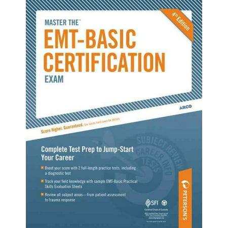 Master the EMT Basic Certification Exam - Walmart.com