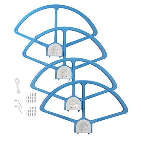 SSE Quick Disconnect Quick Mount Release Snap On/off Prop Guards for DJI Phantom 3 Professional, Advanced, Standard + Phantom 2 and Phantom 1 Quadcopters (Blue)