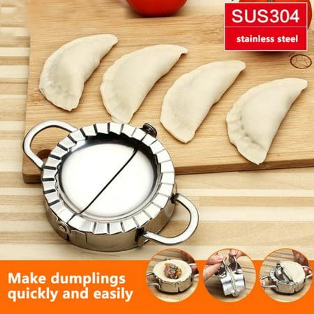 Marainbow Eco-Friendly Pastry Tools Stainless Steel Dumpling Maker Wraper Dough Cutter Pie Ravioli Dumpling Mould Kitchen Accessories ()