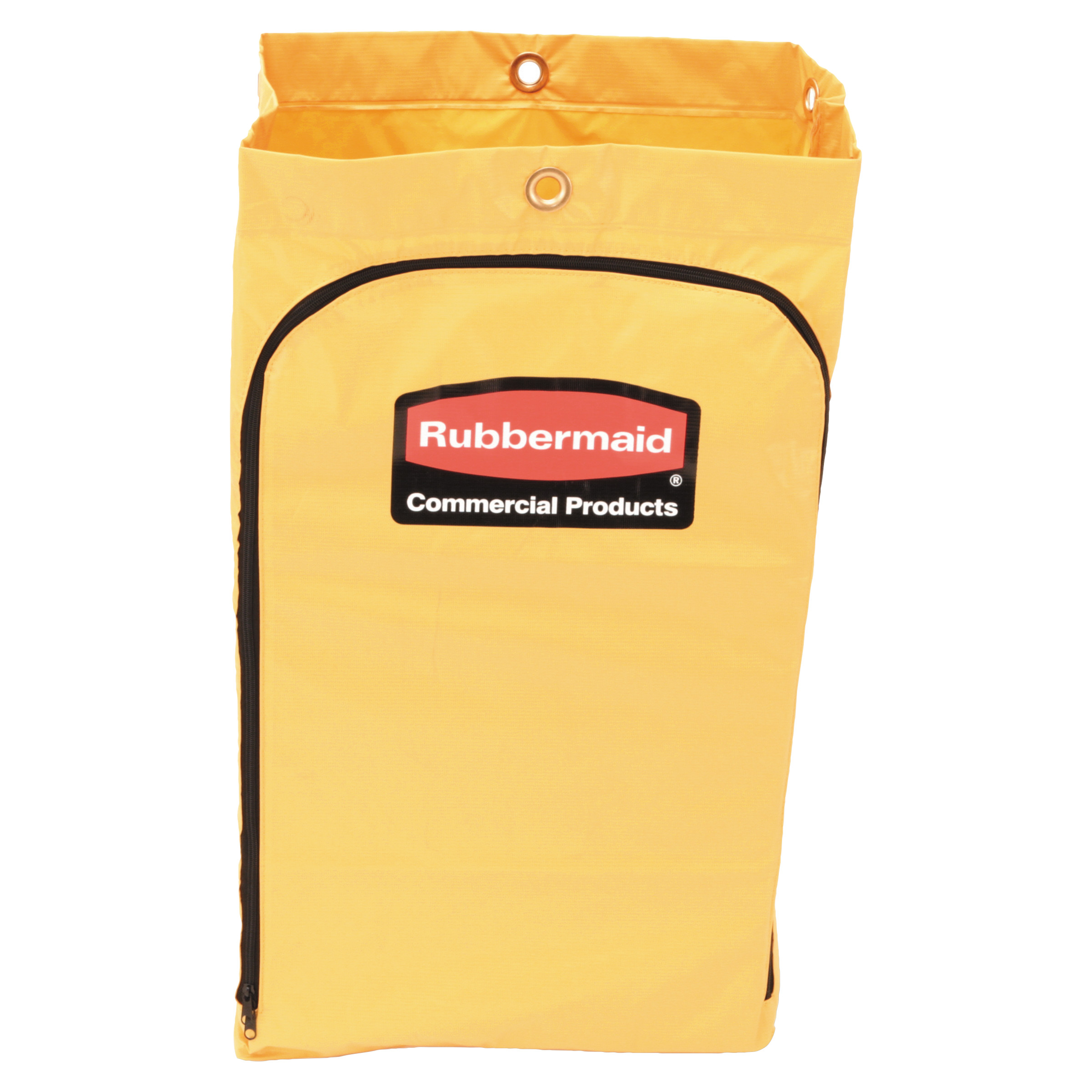Rubbermaid Commercial Zippered Vinyl Cleaning Cart Bag, 24gal, 17 1/4w x 10 1/2d x 30 1/2h, Yellow