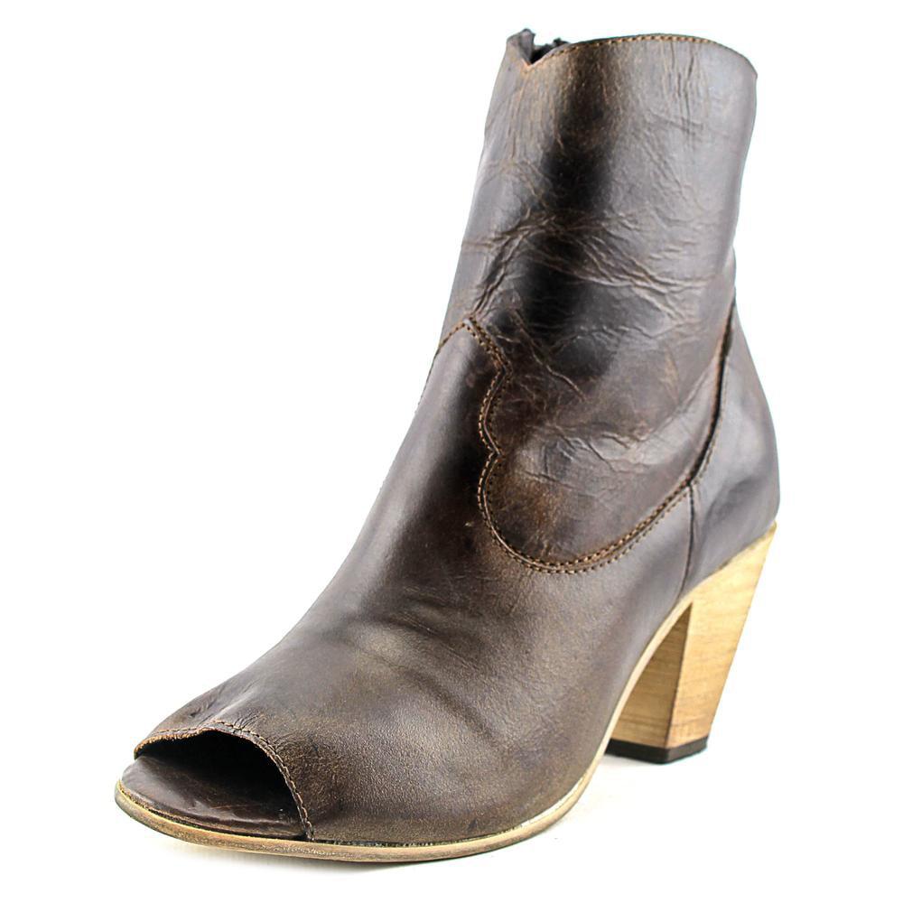 Dingo Koko Peep-Toe Leather Western Boot by Dingo