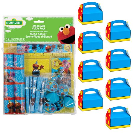 Sesame Street Filled Favor Boxes (For 8 Guests)](Sesame Street Party Bags)