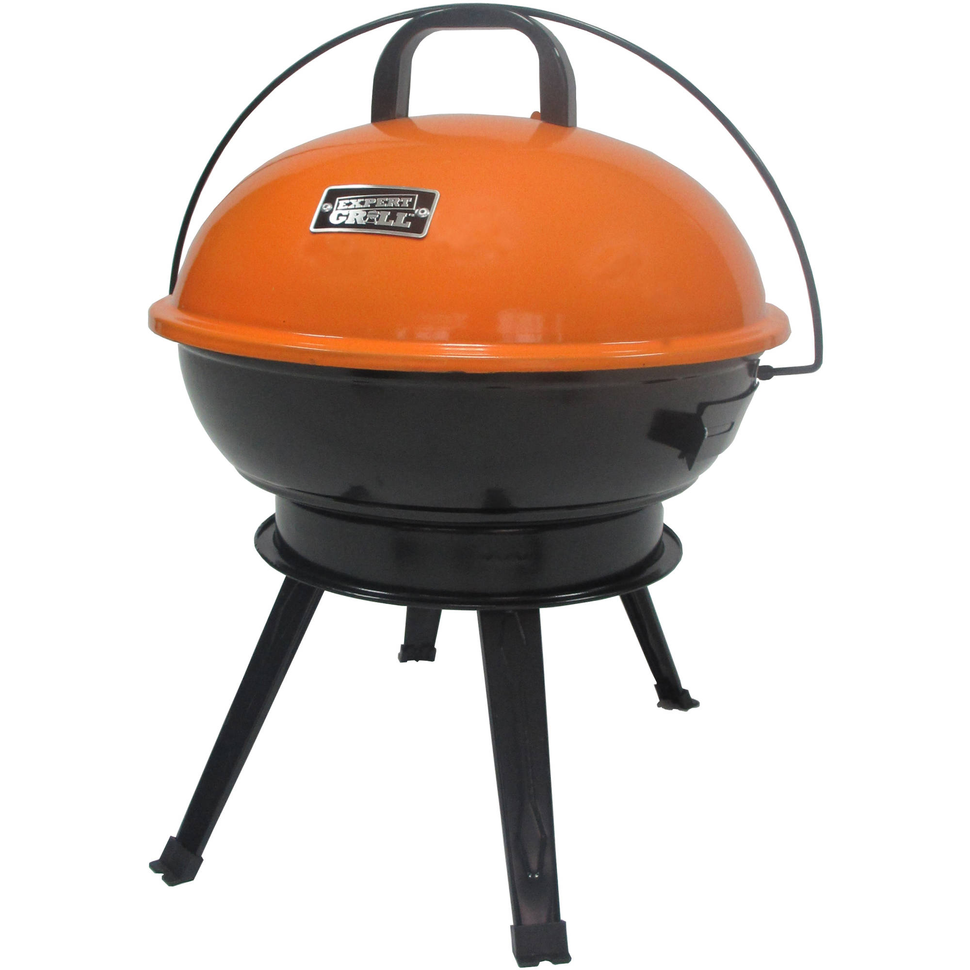 "Expert Grill 14.5"" Portable Charcoal Grill, Competitive Orange"
