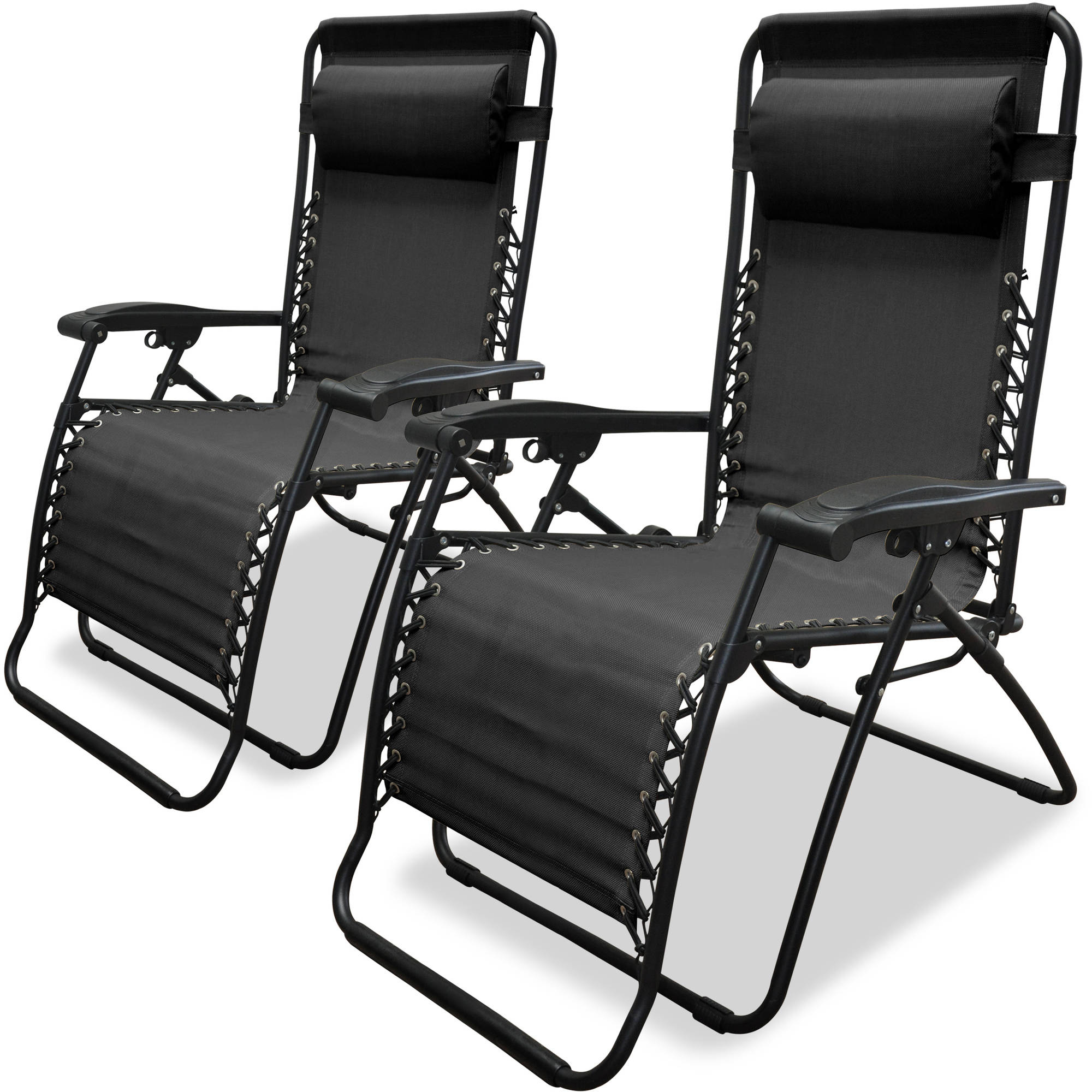 Caravan Sports Infinity Zero Gravity Chair, 2pk, Black