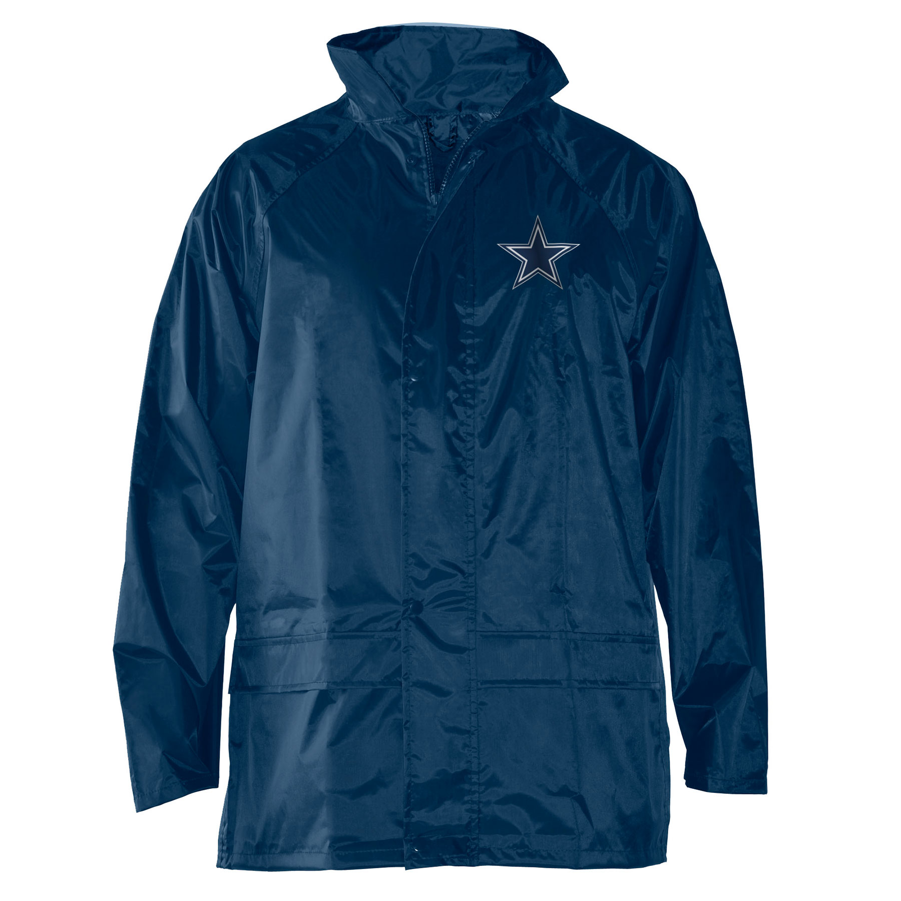 buy online 3253f 9d392 Dallas Cowboys NFL Stadium Packable Waterproof Rain Jacket ...
