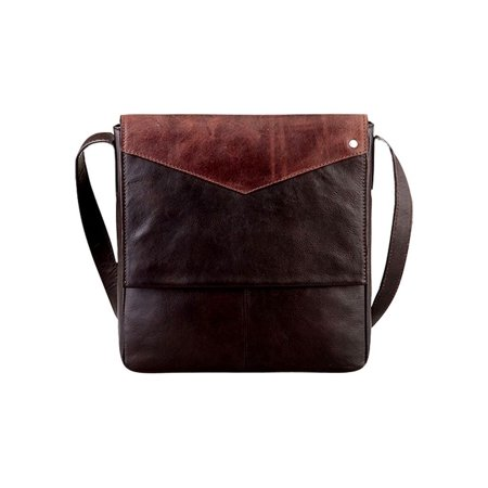 Western Computer Briefcase Calf Leather Flap Brown H149-07