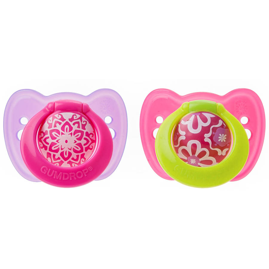 The First Years Gumdrop Ortho Pacifier, 2pk, 6-18 months