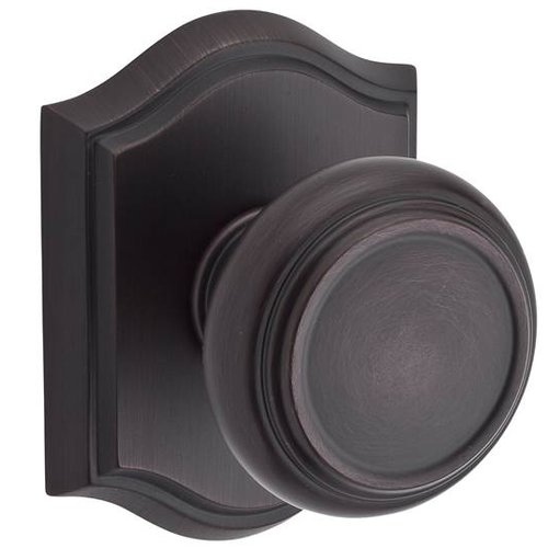 Baldwin Traditional Single Dummy Door Knob with Traditional Arch Rose