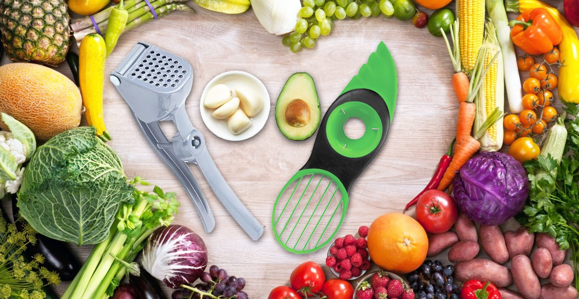 Click here to buy Avocado Slicer Tool 3-In-1 Multi-Function Slicer + Cutter + Pit Remover for Avocados and Fruits + Stainless....