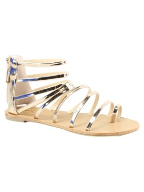 ecd9fb2a041c Product Image Qupid Womens Athena-1017 Gold Sandals Size 7
