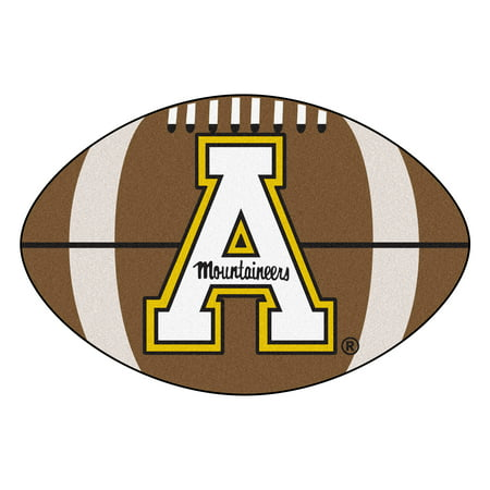 NCAA Appalachian State Mountaineers Football Shaped Mat Area Rug