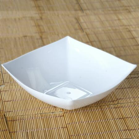 12 Oz White Plastic Bowl - BalsaCircle 4 pcs 7.5