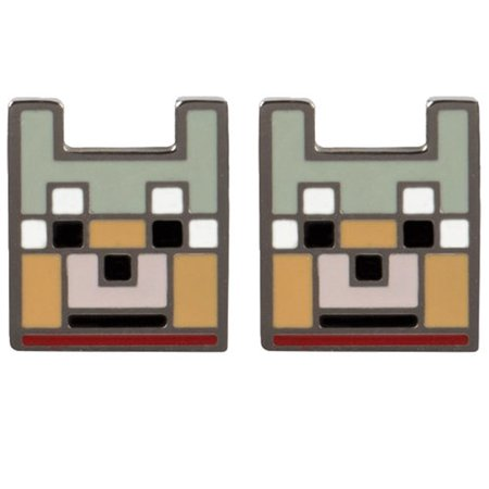 Earrings   Minecraft   Wolf Stud Licensed J6656