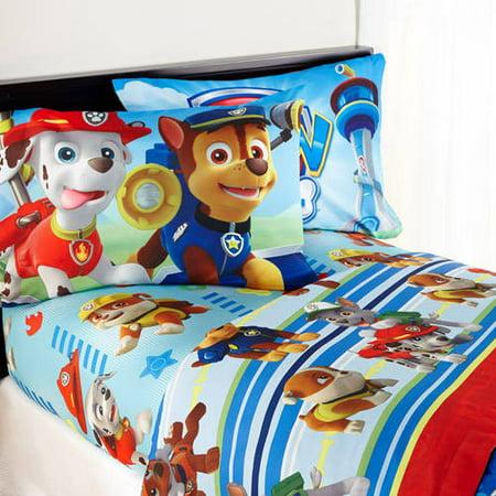Paw Patrol Puppy Hero Bedding Sheet Set Walmart Com