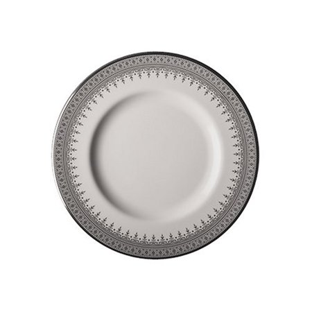 Piper Platinum 8-Inch Salad Plate, Classic bone china By Royal -