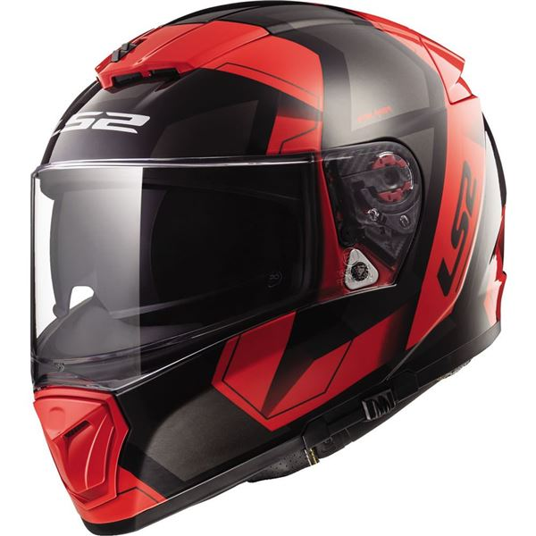 LS2 Helmets Breaker Solid Full Face Motorcycle Helmet with Sunshield (Gloss Black, Large)