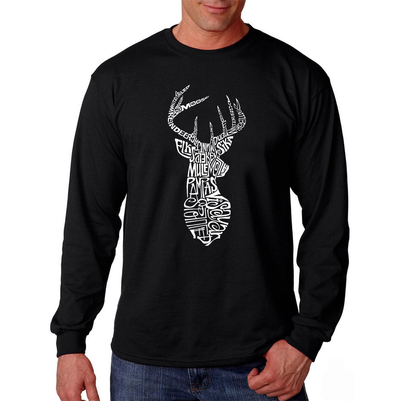 Los Angeles Pop Art Men's Long Sleeve T-shirt - Types of Deer ...