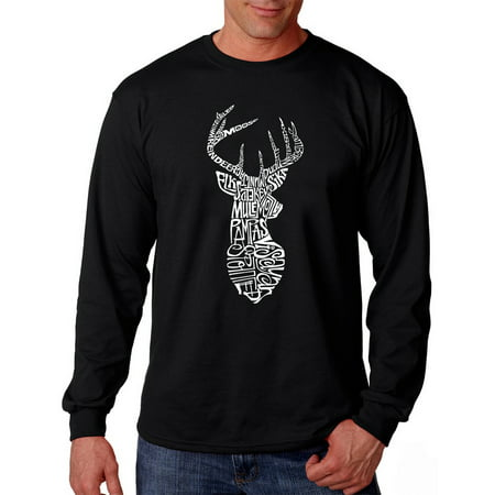 Los Angeles Pop Art Men's Long Sleeve T-shirt - Types of Deer ...