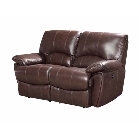Astonishing Coaster Company 65 Clifford Motion Power Double Reclining Loveseat Dark Brown Gmtry Best Dining Table And Chair Ideas Images Gmtryco