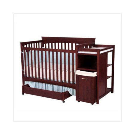 Shermag Hampton Convertible Crib And Changer Combo In Cherry